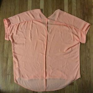Francesca's Collections Tops - Sheer peach t-shirt from Francesca's!